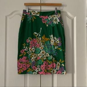 Anthropologie Odille Green Abronia Pencil Skirt 8